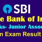 State Bank of India Clerk Main Exam Result 2018