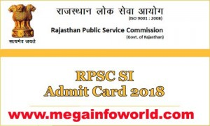 RPSC Sub Inspector SI